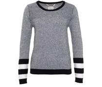 Kaschmir Sweater Mit Muster Schwarz Weiss