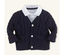 Ralph Lauren Children Aran-Strickjacke aus Baumwolle
