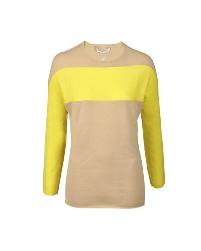 dear cashmere damen dear cashmere pullover beige gelb 40 reduziert. Black Bedroom Furniture Sets. Home Design Ideas