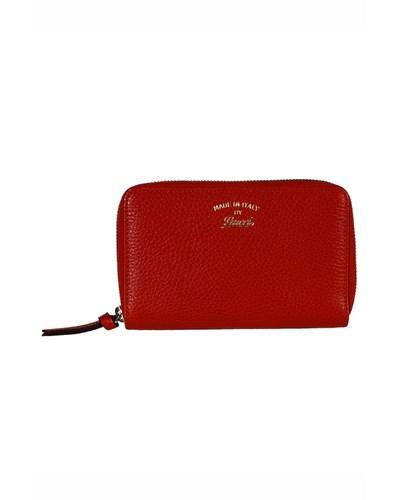 gucci damen gucci portemonnaie aus echtleder rot reduziert. Black Bedroom Furniture Sets. Home Design Ideas