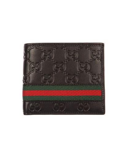 gucci herren gucci portemonnaie mit streifen schwarz. Black Bedroom Furniture Sets. Home Design Ideas