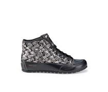 Candice Cooper Sneaker im Metallic-Look - schwarz/silber