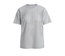 T by Alexander Wang T-Shirt mit Lochmuster - grau