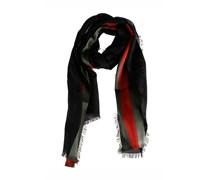 Gucci Seidentuch mit Streifen - schwarz