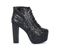 Jeffrey Campbell Ankle Boots mit Glitzer-Effekt - schwarz