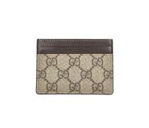 Gucci Kreditkartenetui mit klassischem Gucci-Muster - beige/braun