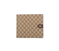 Gucci Geldbörse mit Allover-Labeling - beige/hellbraun