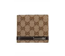 Gucci Geldbörse mit Allover-Labeling - beige