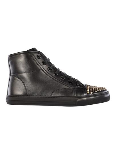 gucci hightop sneaker mit nieten besatz schwarz. Black Bedroom Furniture Sets. Home Design Ideas