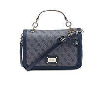 Guess Tasche Cheatin' heart ink - blau