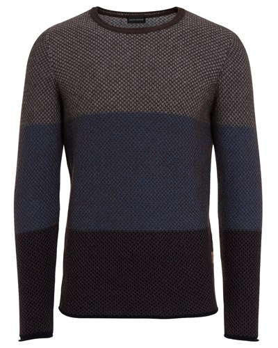 baldessarini herren baldessarini pullover aus schurwolle braun blau reduziert. Black Bedroom Furniture Sets. Home Design Ideas