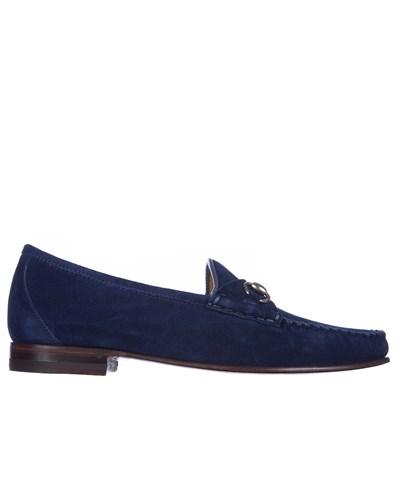 gucci damen gucci loafer aus wildleder dunkelblau reduziert. Black Bedroom Furniture Sets. Home Design Ideas