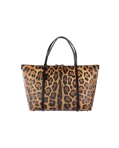 dolce gabbana damen dolce gabbana handtasche im leo look beige schwarz reduziert. Black Bedroom Furniture Sets. Home Design Ideas