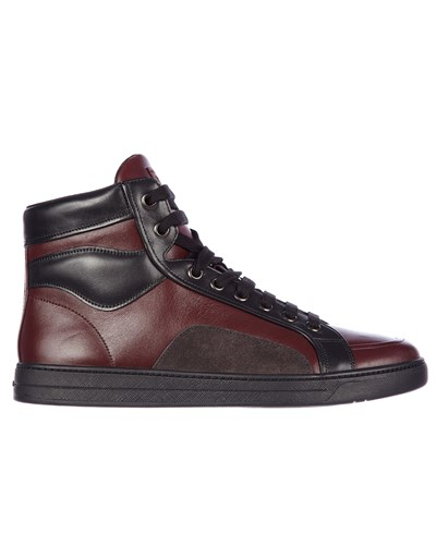 prada herren prada high top sneaker im leicht. Black Bedroom Furniture Sets. Home Design Ideas