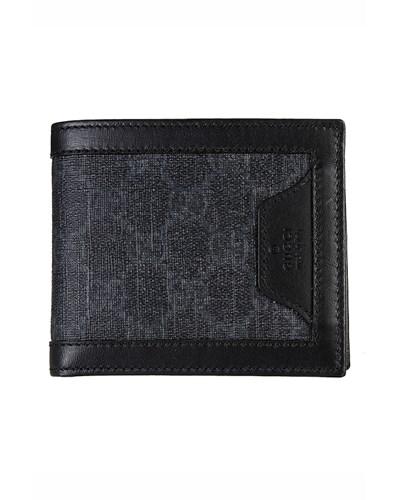 gucci herren gucci portemonnaie mit dezentem logo muster schwarz reduziert. Black Bedroom Furniture Sets. Home Design Ideas