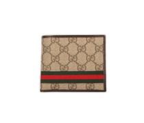 Gucci Portemonnaie mit Streifen - beige/hellbraun
