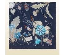 Halstuch aus Wolle und Seide mit Flora Knight Muster