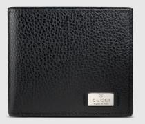 Portemonnaie aus Leder mit Anhänger aus Metall