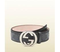 Gürtel aus Guccissima-Leder mit GG Schnalle