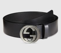 Gürtel mit GG Schnalle aus Leder