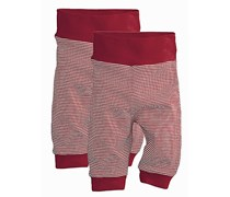 hessnatur Hose aus reiner Bio-Baumwolle, 2er-Set, Farbe: Rot,
