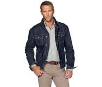 hessnatur Jeansjacke aus reiner Bio-Baumwolle, Farbe: Blau,
