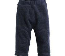 hessnatur Wollfleece-Hose aus reiner Bio-Schurwolle, Farbe: Blau,