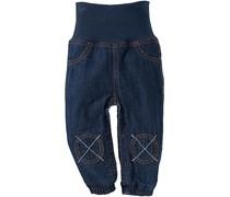hessnatur Jeans mit Softbund aus reiner Bio-Baumwolle, Farbe: Blau,