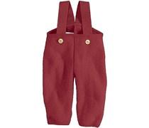 hessnatur Walkhose aus reiner Bio-Schurwolle, Farbe: Rot,