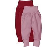 hessnatur Hose aus reiner Bio-Baumwolle, 2er-Set, Farbe: Lila,