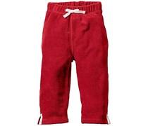 hessnatur Frottee-Hose aus reiner Bio-Baumwolle, Farbe: Rot,