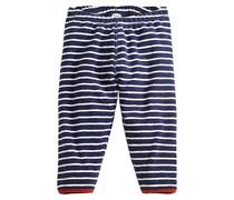 hessnatur Geringelte Frottee-Hose aus reiner Bio-Baumwolle, Farbe: Blau,