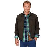hessnatur Jacke aus reiner Bio-Baumwolle, Farbe: Braun,