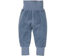 hessnatur Nicki-Hose aus reiner Bio-Baumwolle, Farbe: Blau,