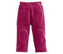 hessnatur Fleece-Hose aus reiner Bio-Baumwolle, Farbe: Rot,