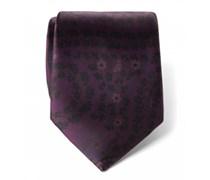 Ermenegildo Zegna - Seidenkrawatte violett gemustert