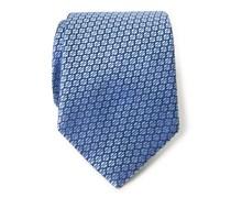 Ermenegildo Zegna - Seidenkrawatte hellblau gemustert