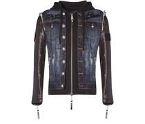 """PHILIPP PLEIN - denim jacket """"plein hoodie"""""""