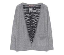 Dear Cashmere Cardigan V-Ausschnitt Grau Zebra