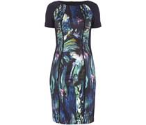 Kleid mit gemustertem Einsatz