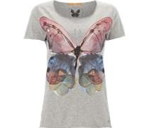 T-Shirt mit Schmetterlingprint