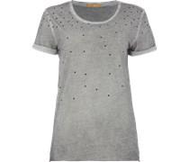 T-Shirt im Washed Out Look mit Ziernietenbesatz