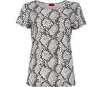 T-Shirt aus Baumwoll-Modal-Mix mit Snakemuster