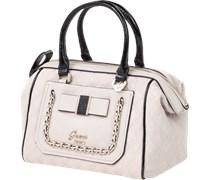 Handtasche in Leder-Optik mit Metall-Logo