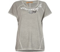 Oversize Shirt mit Metallic-Details