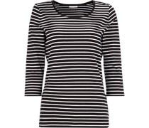 Shirt mit Streifenmuster und Dreiviertelarm