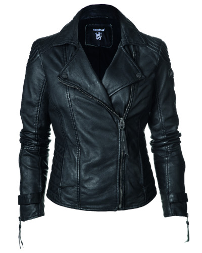 tigha damen tigha tamara lederjacke biker style schwarz. Black Bedroom Furniture Sets. Home Design Ideas