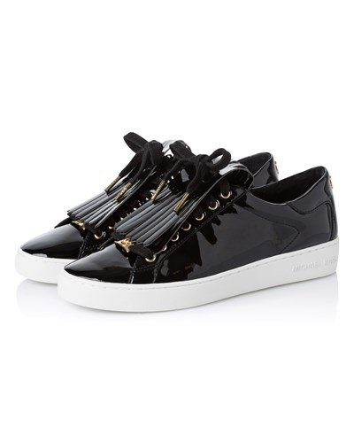michael kors damen sneakers keaton aus lackleder in. Black Bedroom Furniture Sets. Home Design Ideas