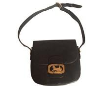 Vintage Handtasche mit Logo-Schnalle