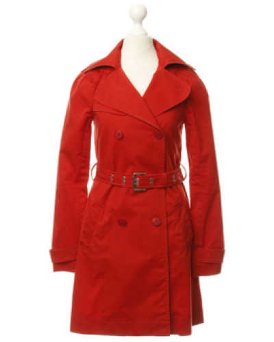 patrizia pepe damen preowned trenchcoat in rot reduziert. Black Bedroom Furniture Sets. Home Design Ideas